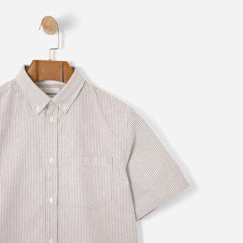 Norse Projects Theo Oxford SS Shirt Dark Navy Fine Stripe