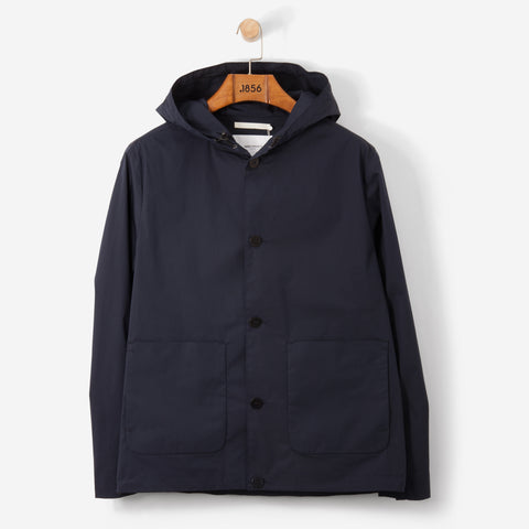 Norse Projects Daniel Crisp Poplin Jacket Navy