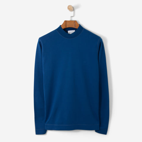 Norse Projects Harald Mercerized Interlock Petrol Blue