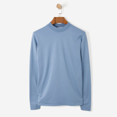 Norse Projects Harald Mercerized Interlock Steel Blue