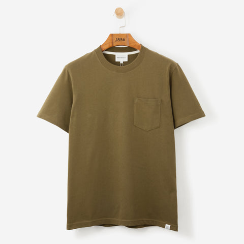 Norse Projects Johannes Pocket T Shirt Sitka Green