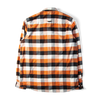 Norse Projects Villads Brushed Flannel Check Shirt Signal Orange