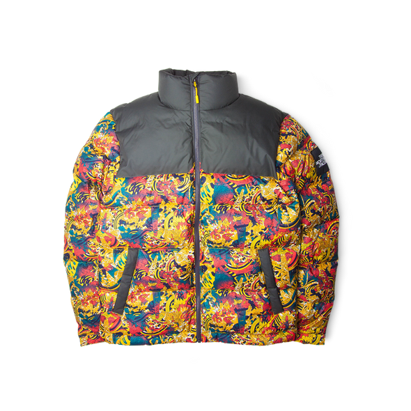 The North Face Black Label 1992 Nuptse Jacket Leopard Yellow Genesis Print