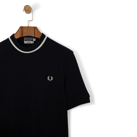Fred Perry Reissues Crew Neck Pique T Shirt Navy