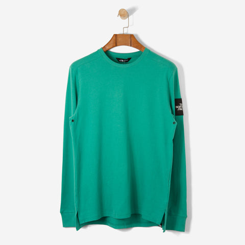 The North Face Black Label L/S Fine T Shirt Porcelain Green
