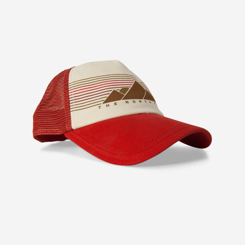 The North Face Low Pro Trucker Ball Cap Sunbaked Red