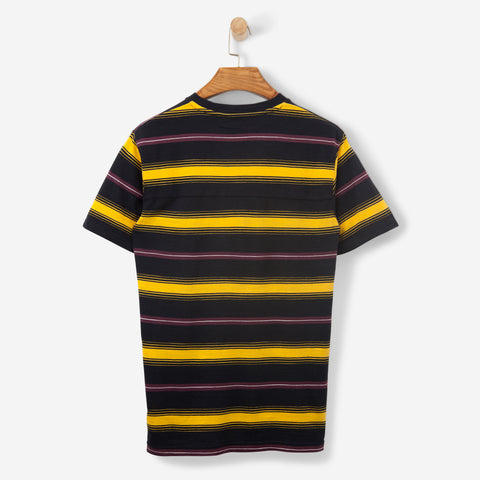 Wood Wood Perry T Shirt Yellow Stripe