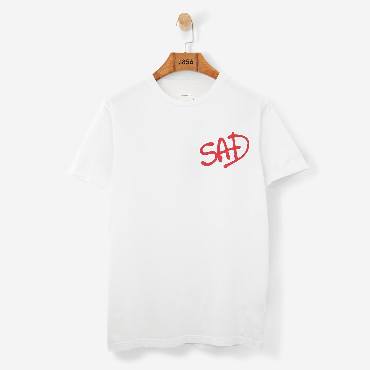 Wood Wood Sad T Shirt Bright White