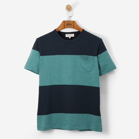 YMC Baja T Shirt Navy/ Blue