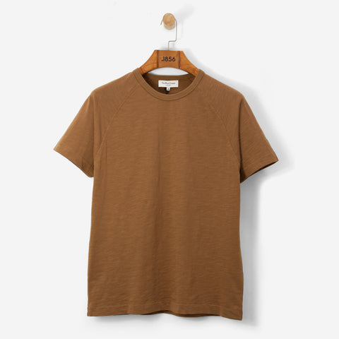 YMC Television Raglan T Shirt Brown