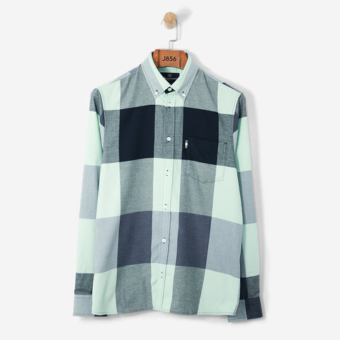 Aquascutum Gunn Giant CC Flannel Shirt L/S Mint