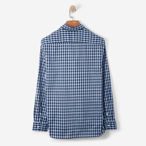 Aquascutum York Club Check Shirt LS Slate Blue