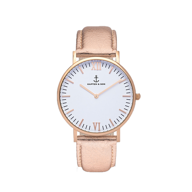 Kapten and Son Campina Rose Gold White Metallic