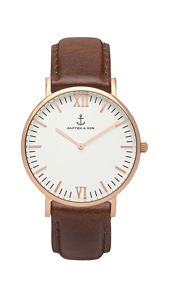 Kapten and Son Campina Rose Gold Brown Leather