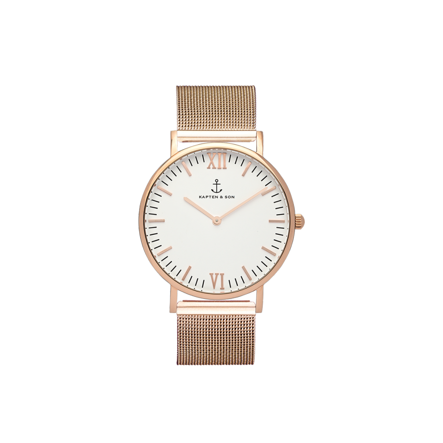 Kapten and Son Campina Rose Gold Mesh