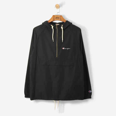 Champion Logo 1/2 Zip Hooded Sweatshirt Black