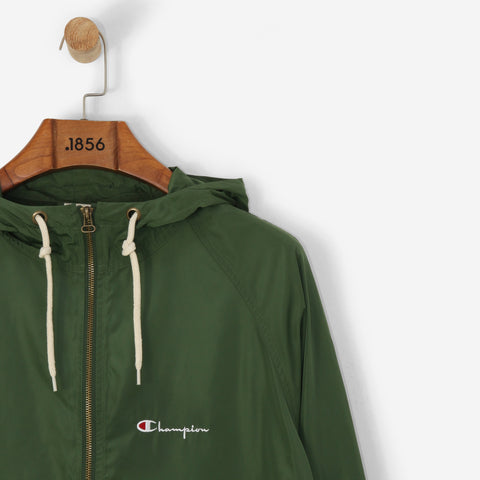 Champion Logo 1/2 Zip Hooded Sweatshirt Green