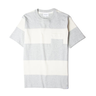 Norse Projects Johannes Block Stripe Tee Light Grey Melange