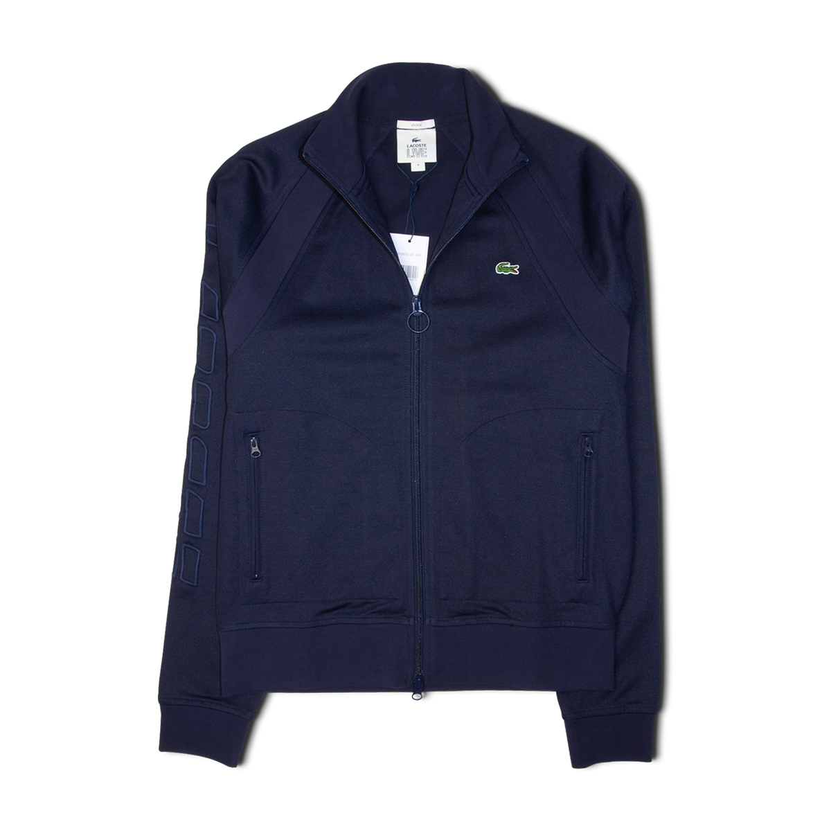 3445849ae Lacoste LIVE Graphic Embroidery Resistant Knit Zip Jacket Navy – Grants 1856