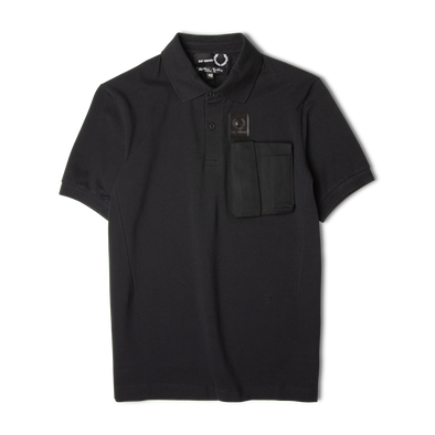 Fred Perry x Raf Simons Space Pocket Pique Shirt Black