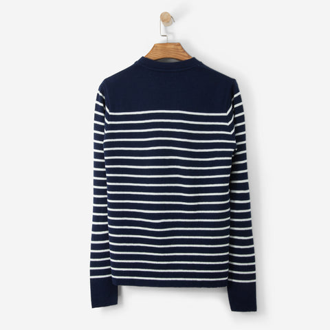 Norse Projects Verner Normandy Knit Navy/Ecru