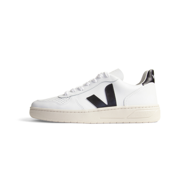 Veja V10 Leather Extra White Black