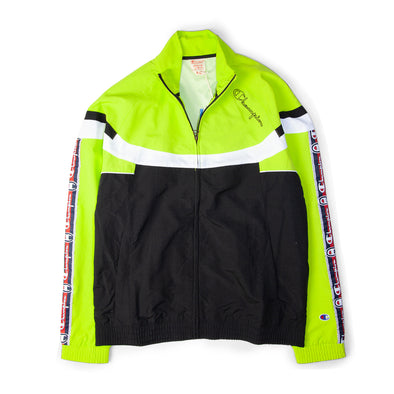 Champion Full Zip Track Jacket Black/Green