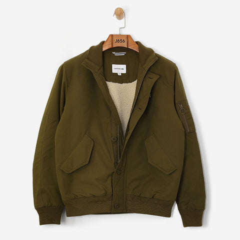Lacoste Contrast Finish Quilted Bomber Soldier