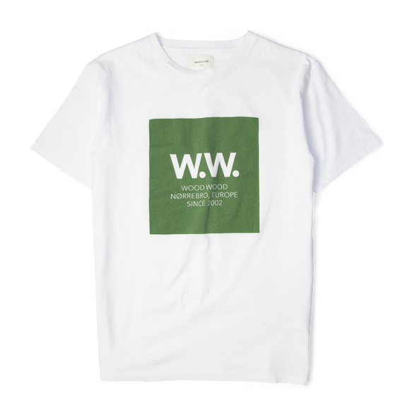 Wood Wood WW Square T-Shirt White/Green