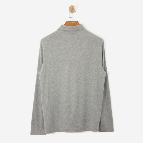 Aquascutum Abner Large CC Front Polo Shirt Grey L/S