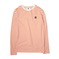Wood Wood Mel Long Sleeve Off White/Orange