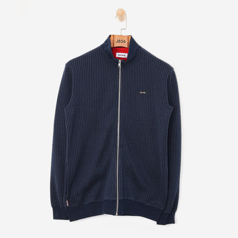 LE FIX Pinstripe Trainer Navy