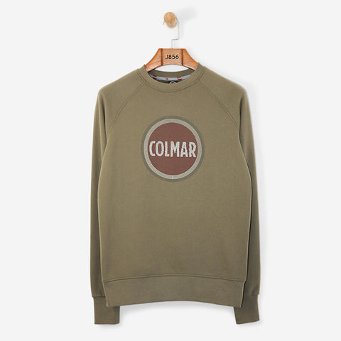 Colmar Crewneck Brand Carrier Sweatshirt Oil