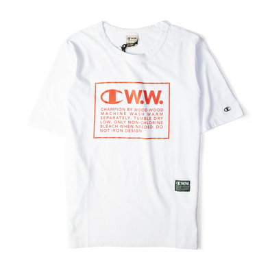Champion X Wood Wood Box Logo Tee White