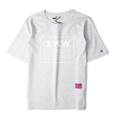 Champion X Wood Wood Box Logo Tee Grey