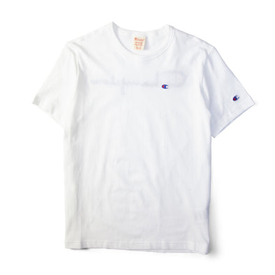 Champion Reverse Weave Rear Print Logo Tee White