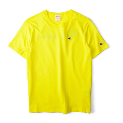 Champion Reverse Weave Rear Print Logo Tee Yellow