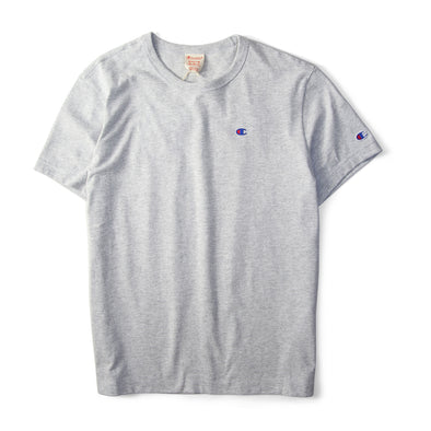 Champion Reverse Weave Rear Print Logo Tee Grey