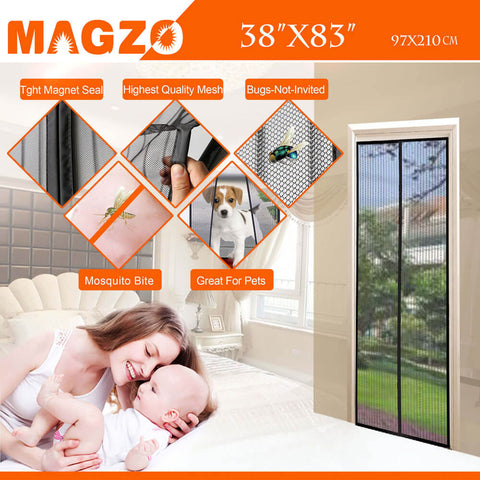 Magnetic Screen Door 36 x 82 Inch screen door magnets fly curtain 38 x 83 black magnetic curtain