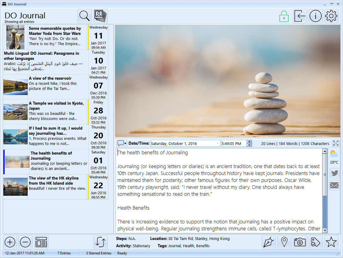 DO Journal - A beautiful journal app for Windows compatible with Day One