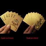 Luxurious Gold Plated Poker Playing Cards