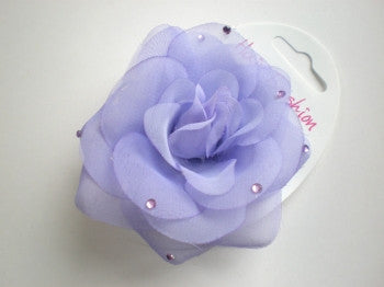 Flower Hair Bobble: Purple