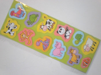 Cartoon Animal Stickers Sheet