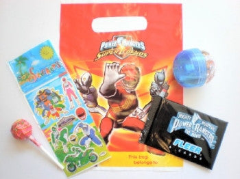 Power Rangers Filled Party Bags