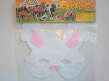Foam Mask: White Rabbit