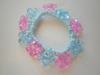 Flower Beaded Hair Elastic