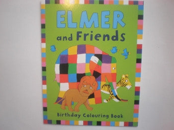 Elmer Colouring Book: Birthday