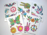 Peace & Love Tattoos Pack (5 sheets)