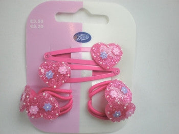 Heart Hair Clips & Bobbles
