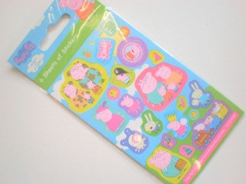 Peppa Pig Sticker Sheets x 6